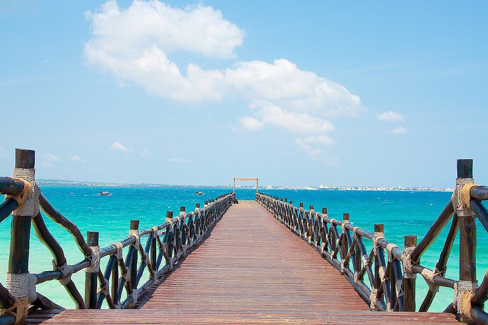 Tanzania Vakantie Eiland Zanzibar Is Een Mooi Eiland Met Een Prachtige Blauwe Zee