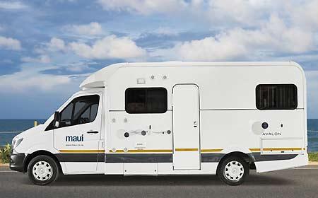 Huur De Maui Sprinter M4BL Luxe 4 Persoons Camper Bij AfrikaOnline.nl