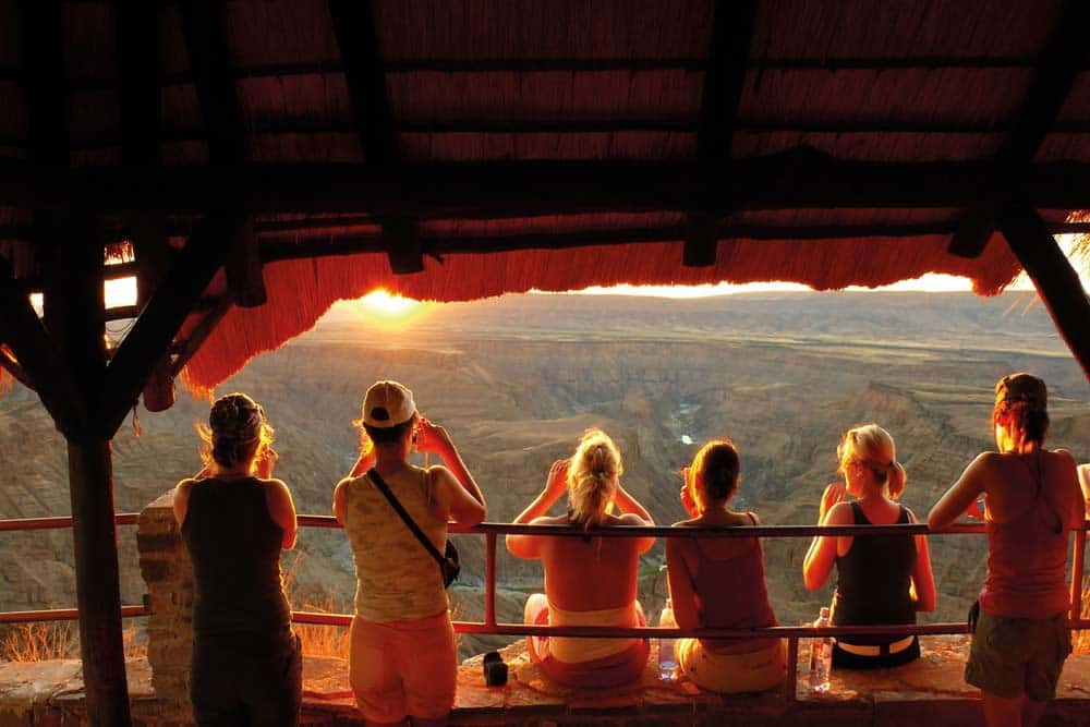 Sunset Bij Blyde River Canyon Zuid Afrika