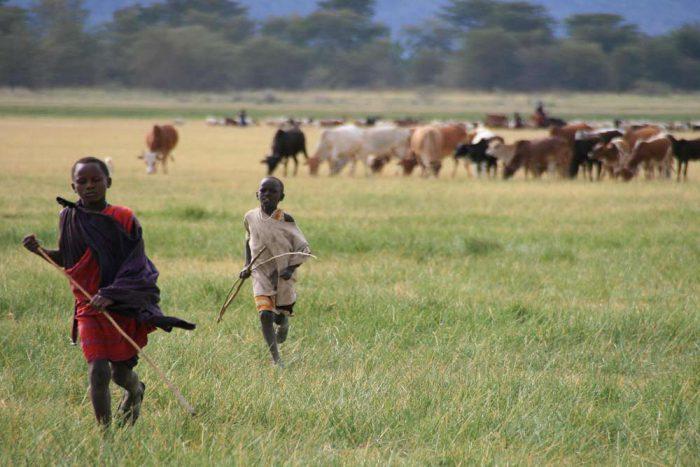 Masai in Lake Manyara National Park