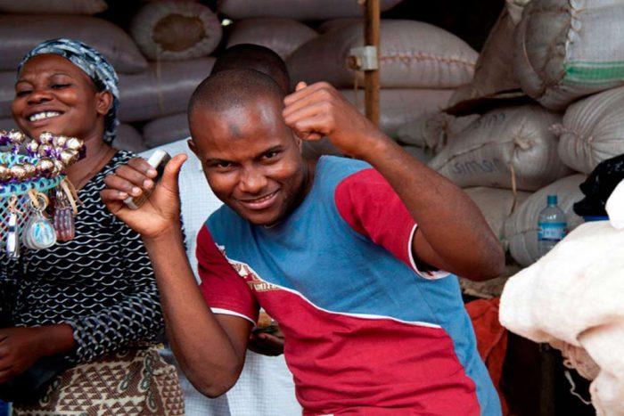 Dancing locals in Oeganda