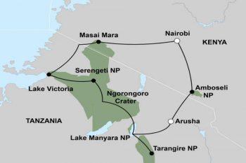 Reismap Overzicht 15 Daagse Oost Afrika Migratie Groepssafari