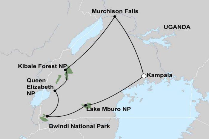 Reis overzicht map 11 dagen Oeganda reis